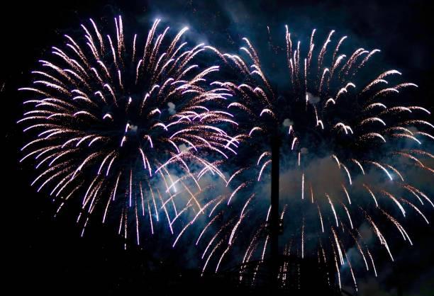 feux d'artifice et parc d'attractions - josianne toubeix photos et images de collection