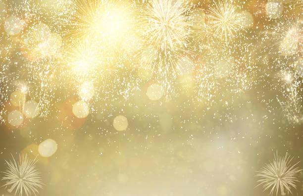 concepto de fuegos artificiales y luces bokeh - anniversary fotografías e imágenes de stock