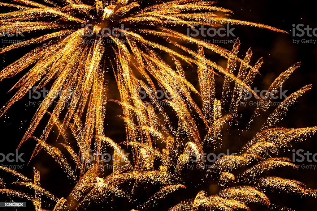 Fireworks and Gold dust in the Skies, Dubai New Year - foto de stock