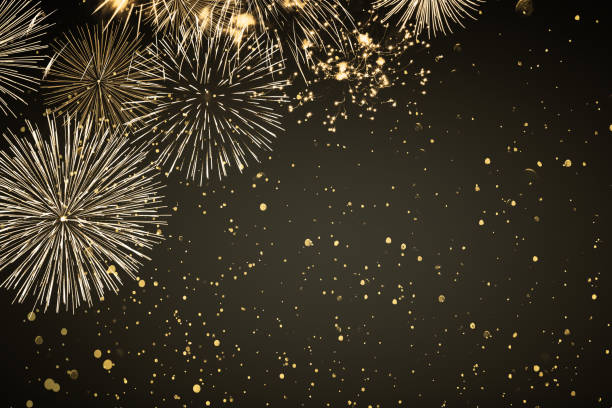 fireworks and sparks in the party night fireworks and sparks in the party night pyrotechnic effects stock pictures, royalty-free photos & images