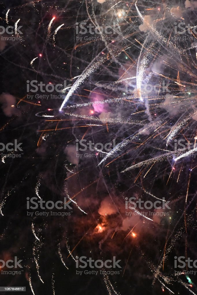 Fireworks Angle stock photo
