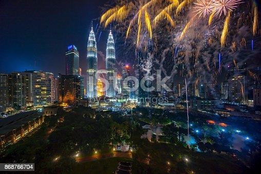 istock Fireworks at Kuala Lumpur 868766704