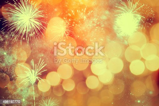 636207118istockphoto Fireworks at New Year 498192770