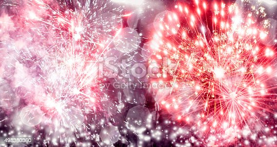 636207118 istock photo Fireworks at New Year 498380360