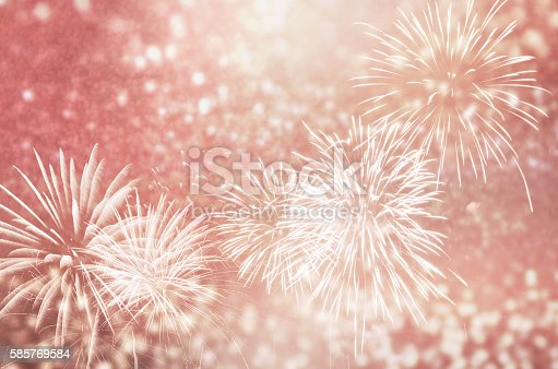 636207118 istock photo Fireworks at New Year 585769584