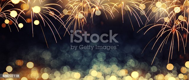 636207118 istock photo fireworks at New Year 636207118
