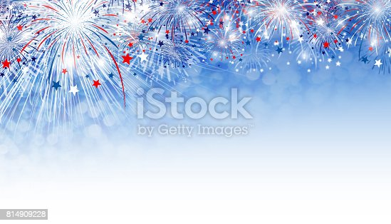 istock Fireworks background design with copy space 814909228