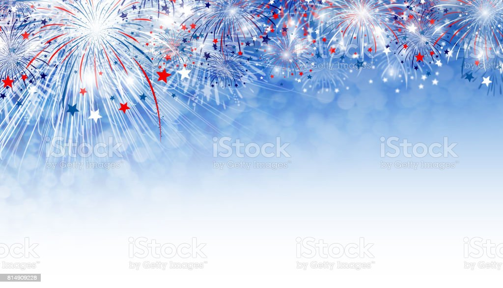 Fireworks background design with copy space stock photo