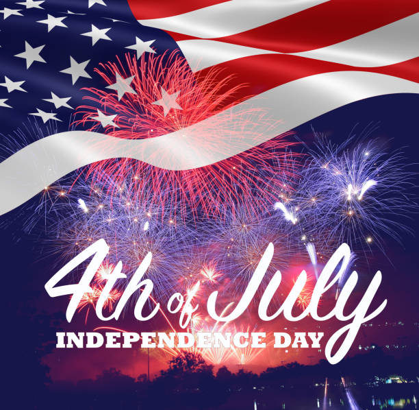 fireworks background for 4th of july independense day. - independence day stock photos and pictures