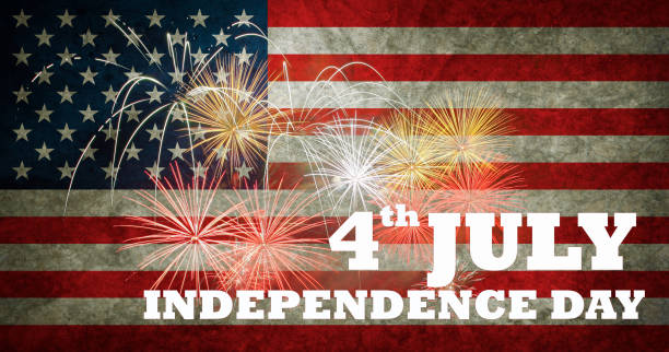 fireworks background for 4th of july independense day. - happy 4th of july stock pictures, royalty-free photos & images