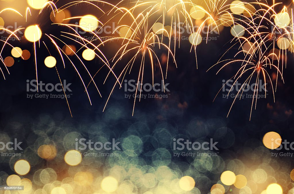 fireworks background New Year - foto de stock