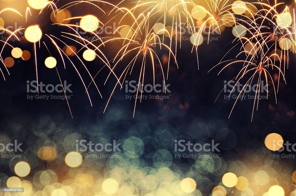 fireworks background New Year – Foto