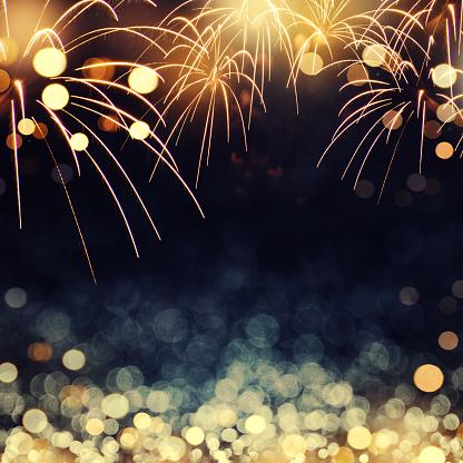 fireworks background New Year
