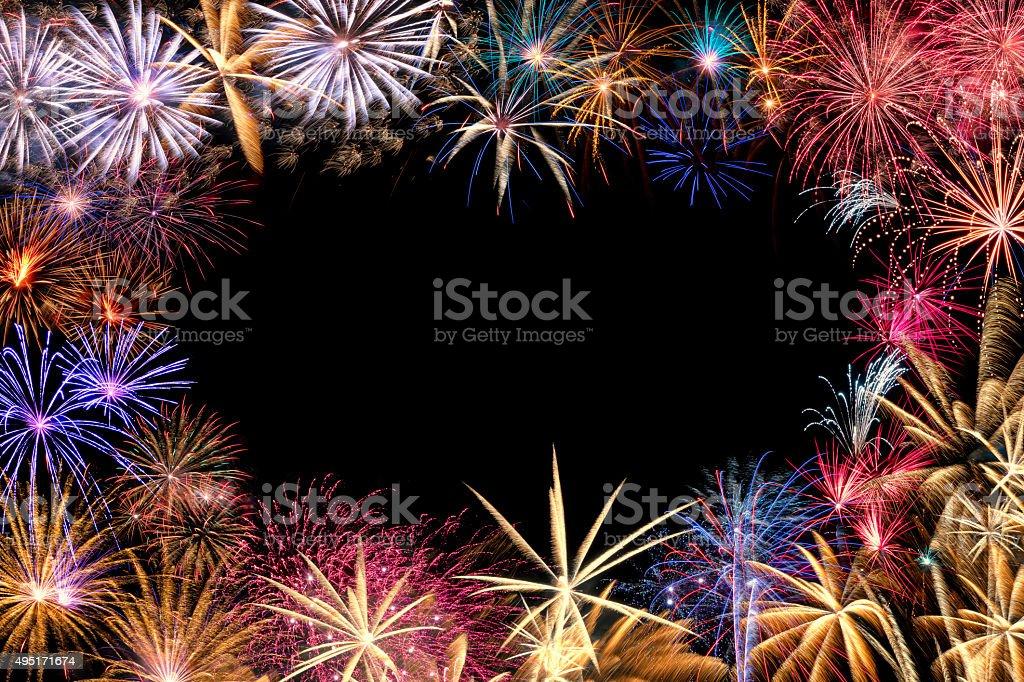 Fireworks Border stock photo