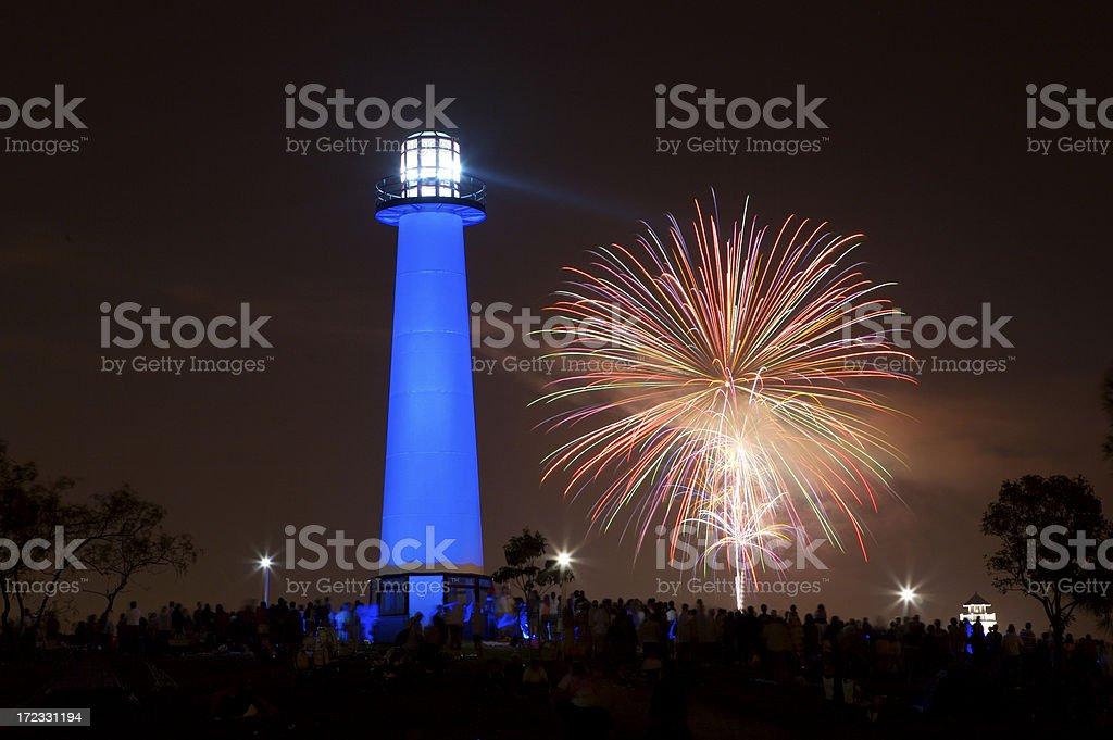 Feuerwerk von Lighthouse – Foto