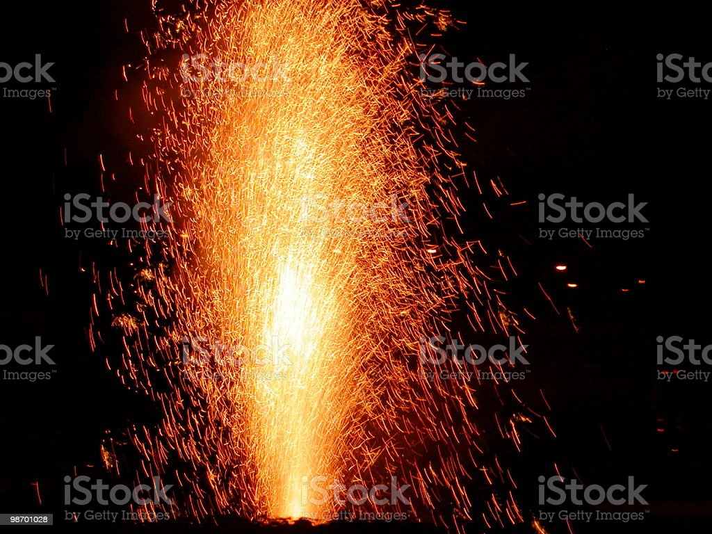 Fireworks candle royalty-free stock photo