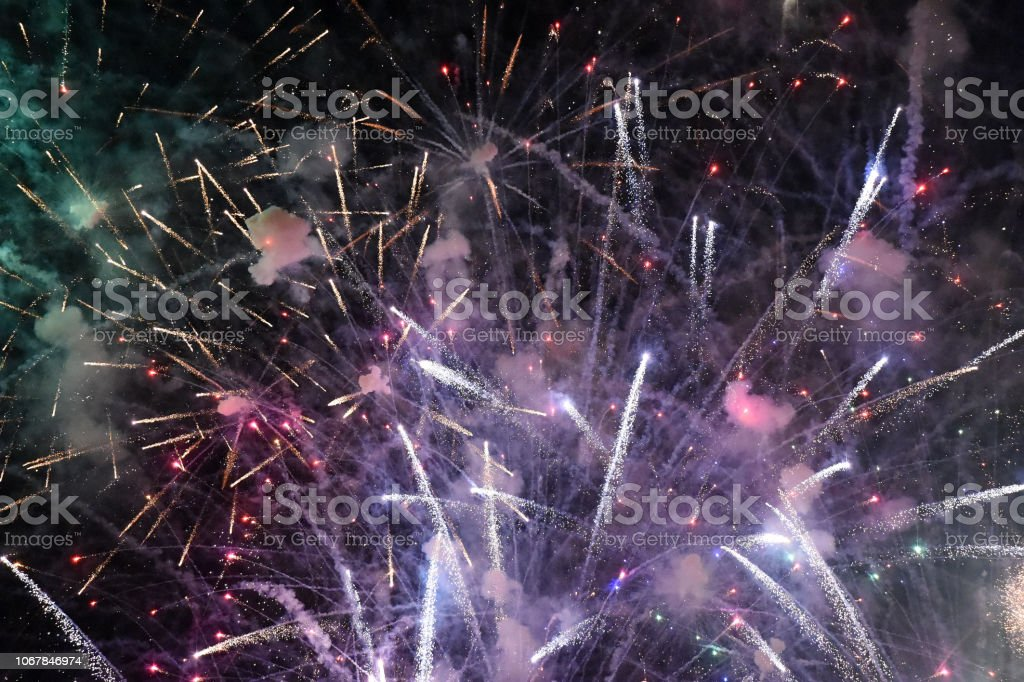 Fireworks Celebrated stock photo