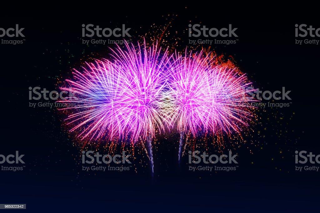 Fireworks celebration. zbiór zdjęć royalty-free