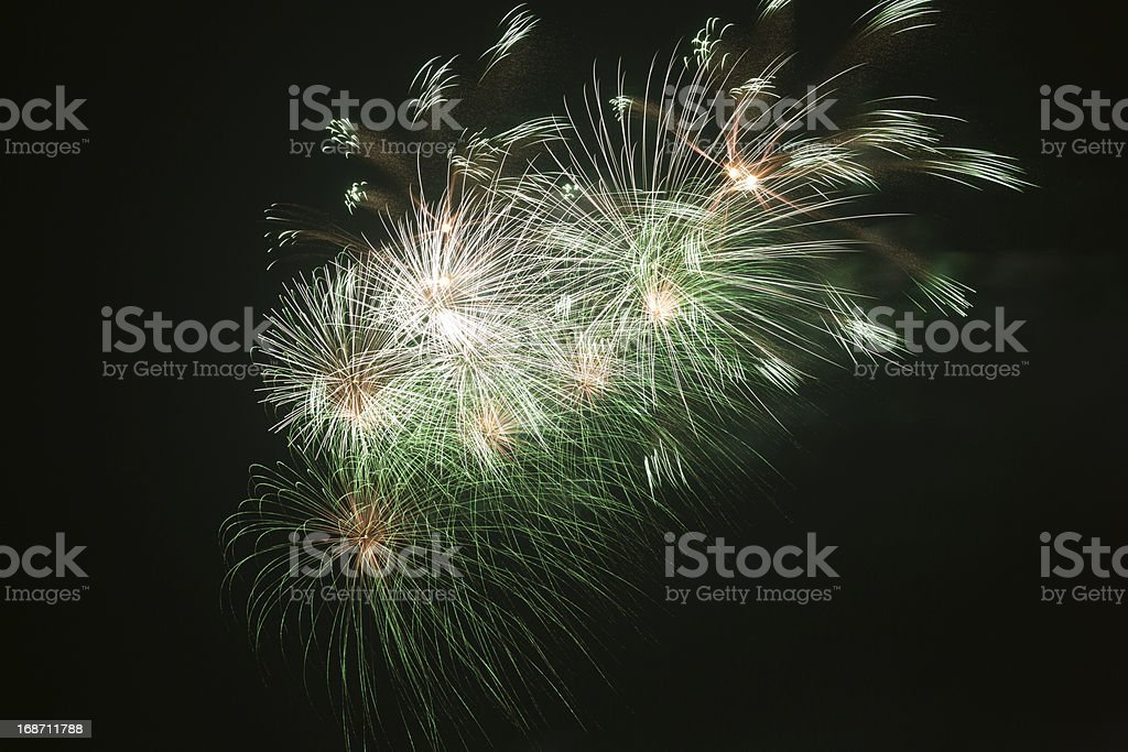 Fireworks cluster royalty-free stock photo