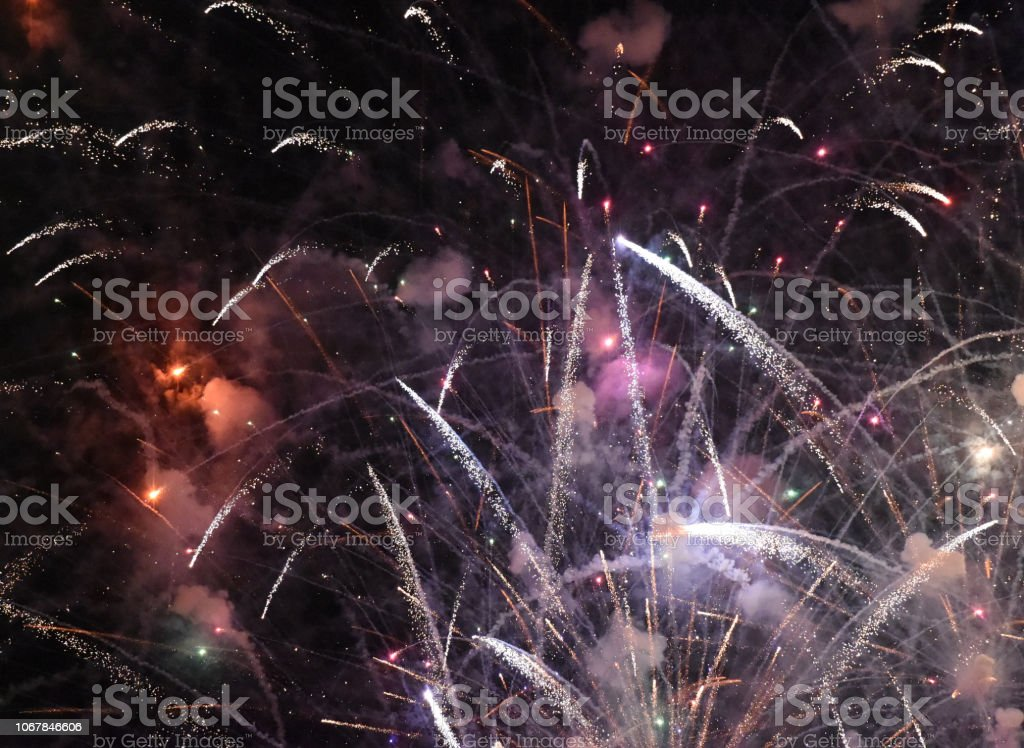 Fireworks Commence stock photo