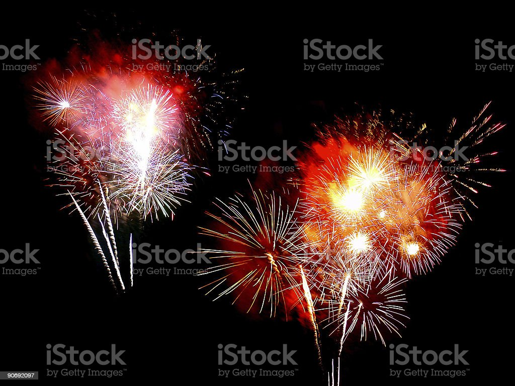 Fireworks Compilation 03 royalty-free stock photo