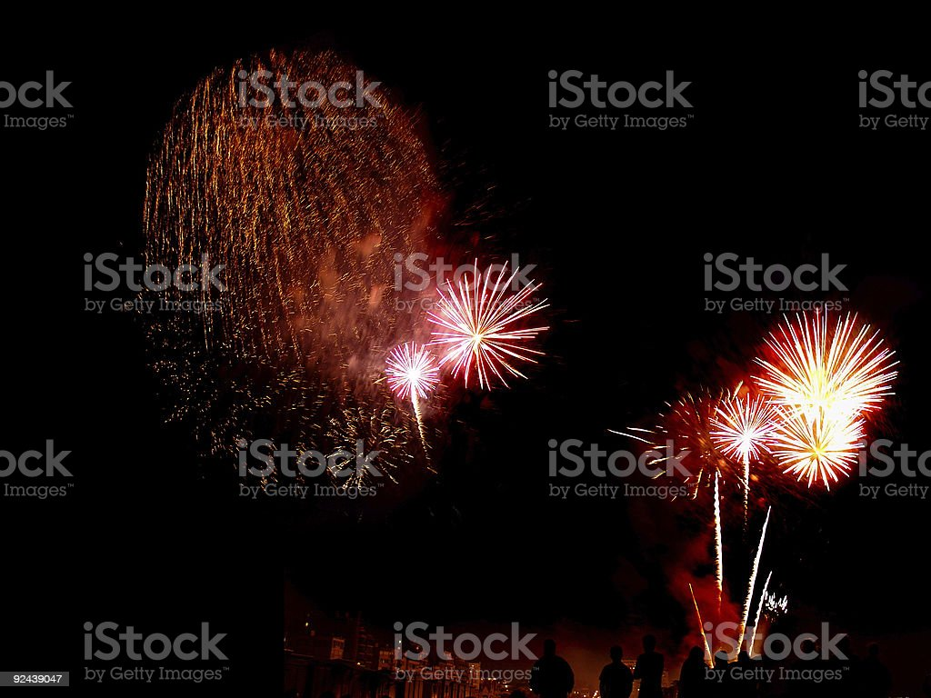 Fireworks Compilation 05 royalty-free stock photo