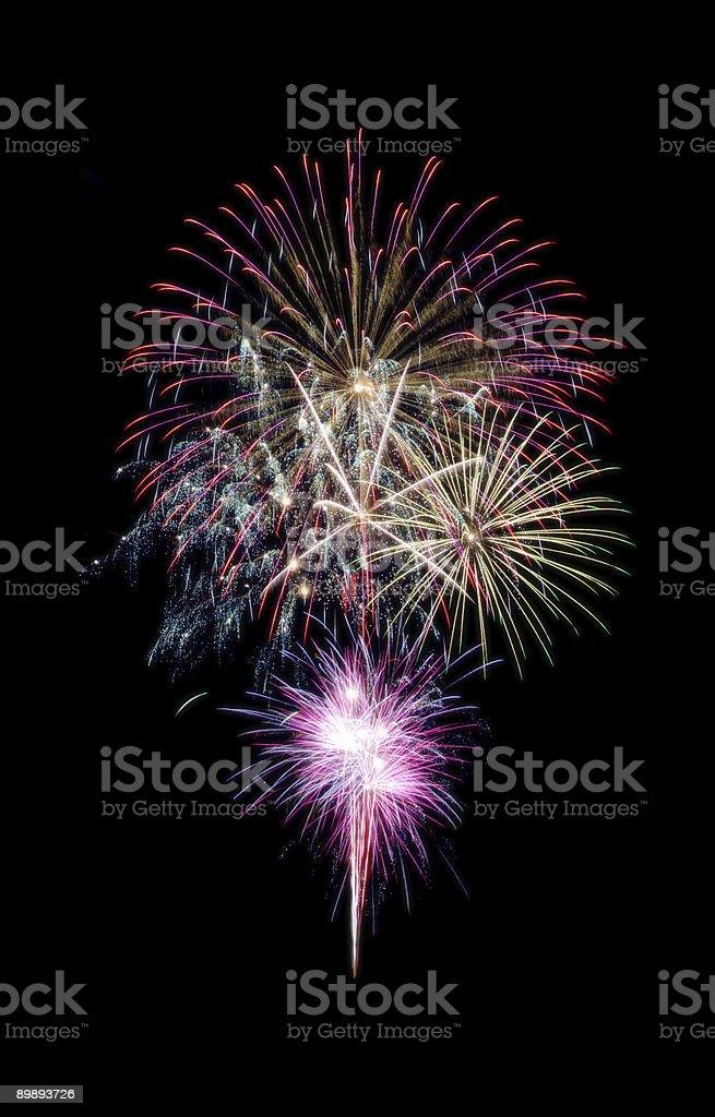 La composición de los fuegos artificiales foto de stock libre de derechos