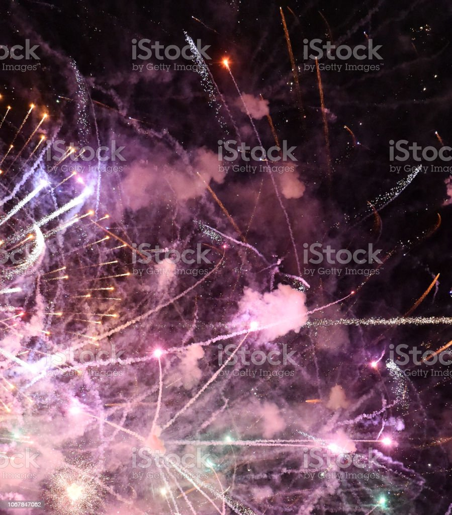 Fireworks Continue stock photo