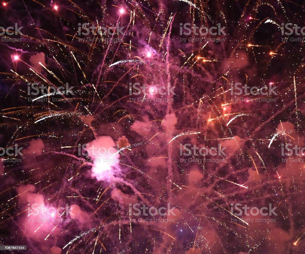 Fireworks Cosmos stock photo