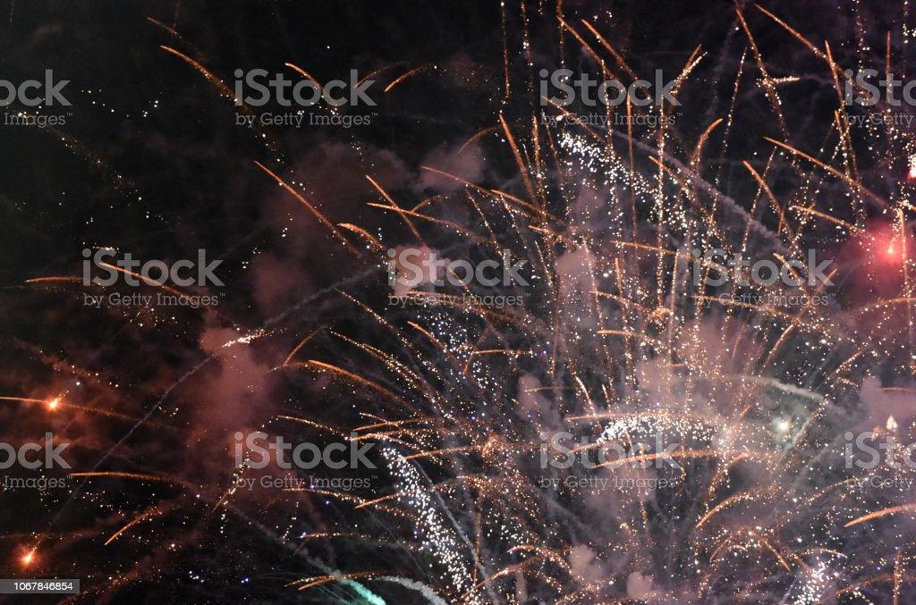 Fireworks Cross stock photo