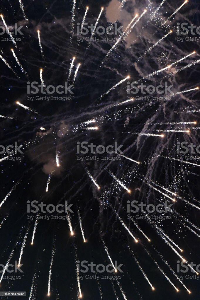 Fireworks Dark stock photo