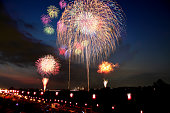 Fireworks Display Festival in Itabashi, Tokyo, Japan