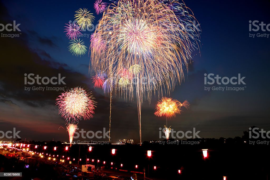 Fireworks Display Festival in Itabashi, Tokyo, Japan ストックフォト