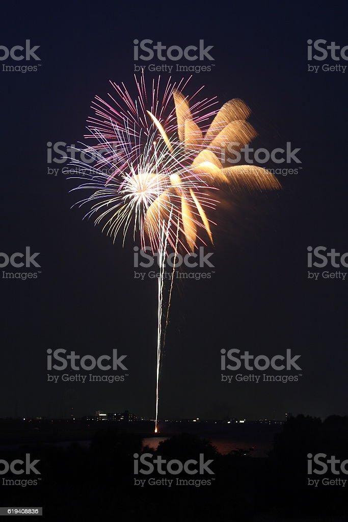 Fireworks Display Festival in Matsudo, Chiba, Japan stock photo