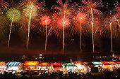 Fireworks Display Festival in Sakata, Yamagata, Japan