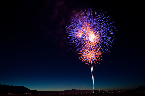 Fireworks Display for the Fourth of July in California