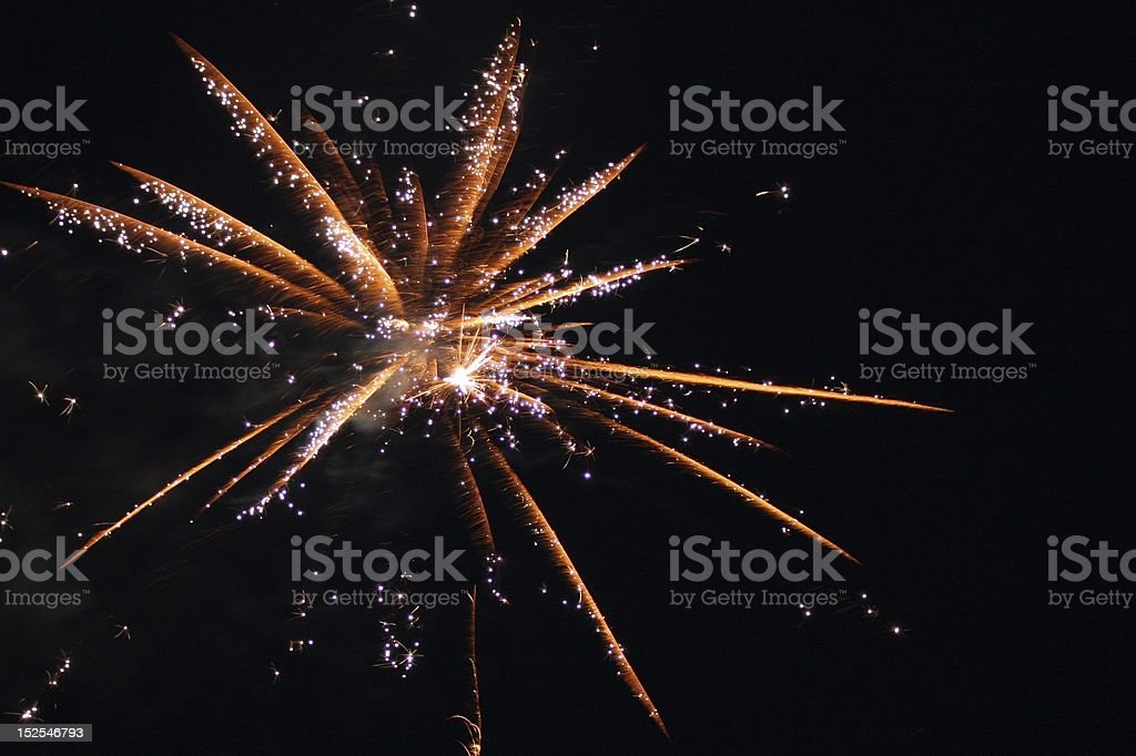 Fireworks Display A fireworks display on the fourth of July. Beauty Stock Photo
