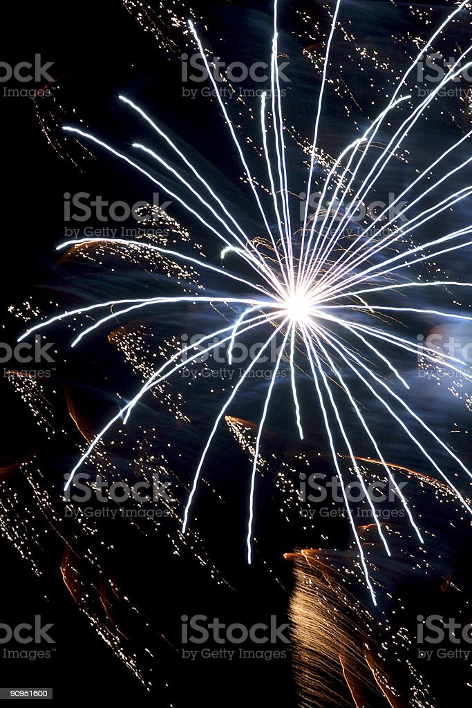 Fireworks display - Statue of Liberty royalty-free stock photo