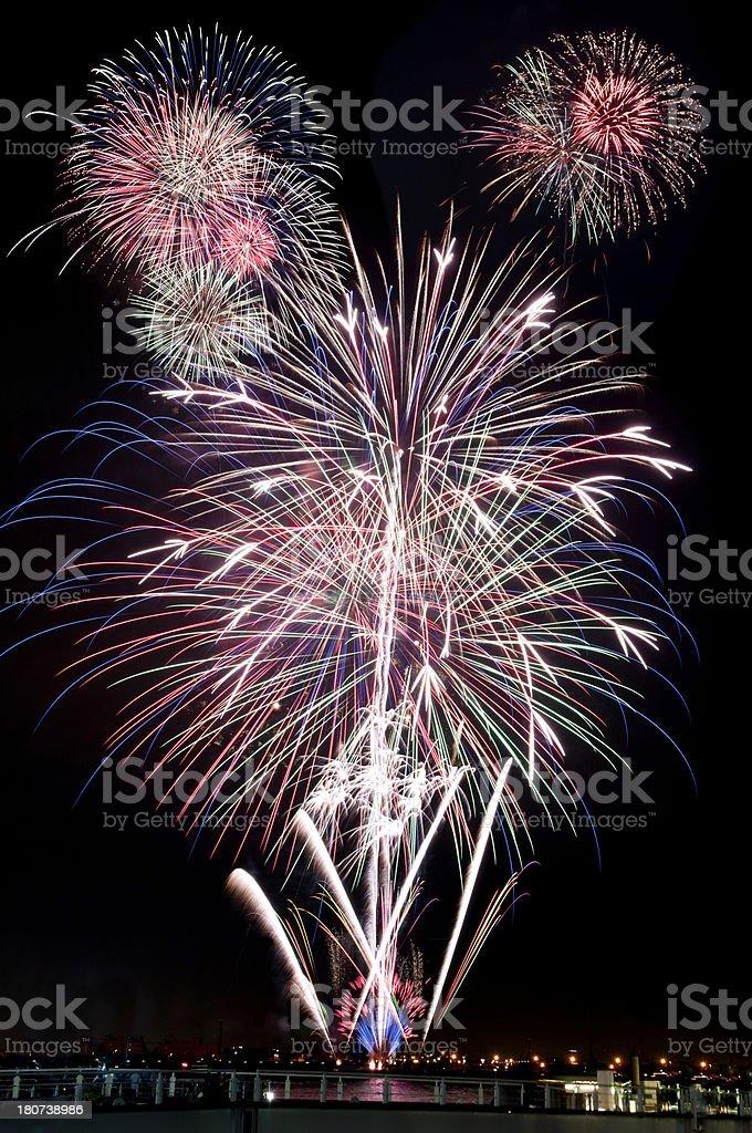 Fireworks displays royalty-free stock photo