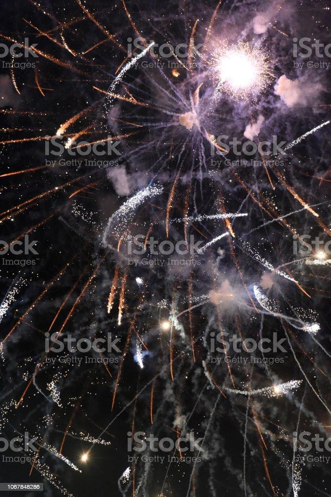 Fireworks End stock photo