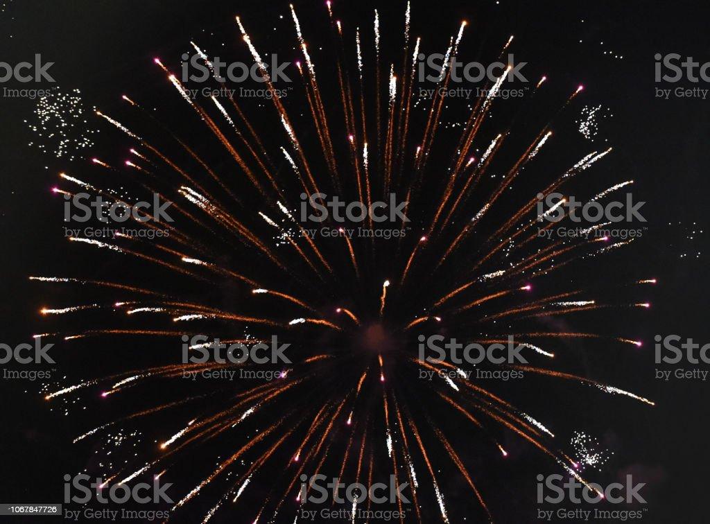 Fireworks Fade stock photo