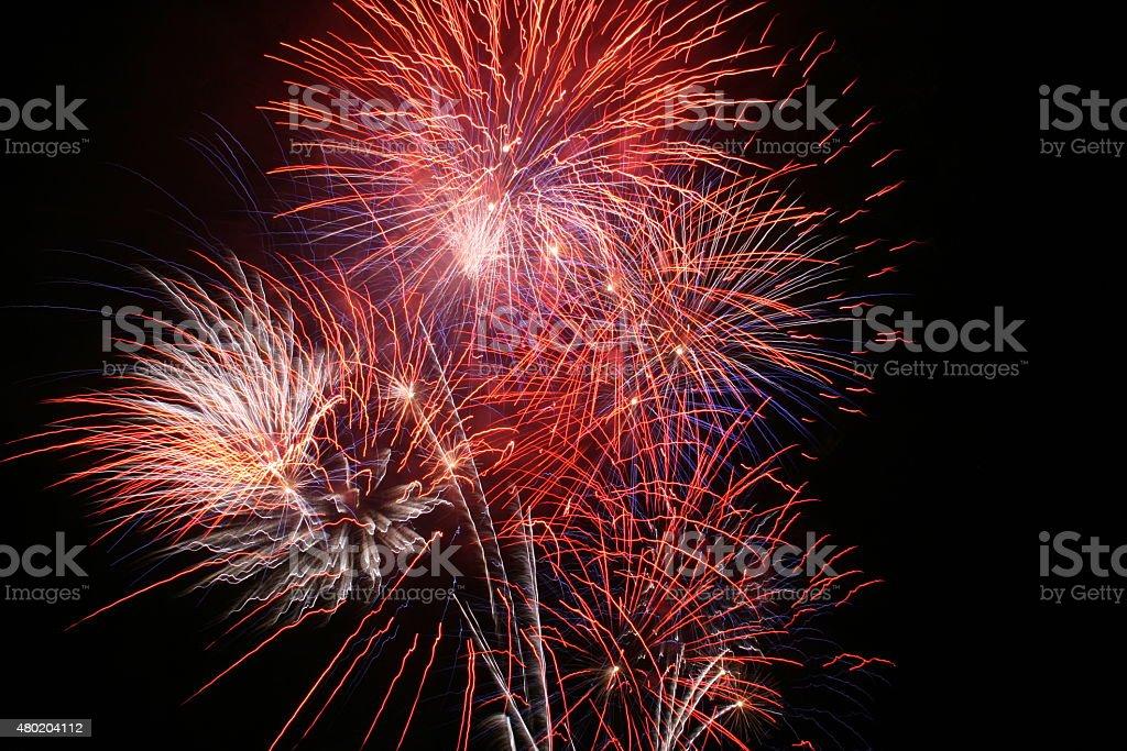 Fireworks Finale stock photo