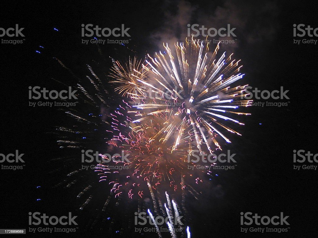 Fireworks Fire Crackers Display royalty-free stock photo