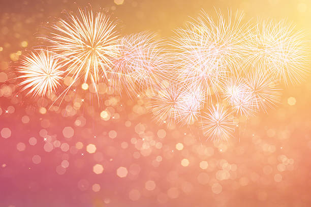 Fireworks for copyspace and background stock photo