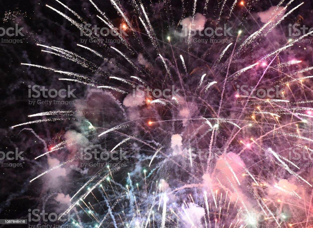 Fireworks Full stock photo