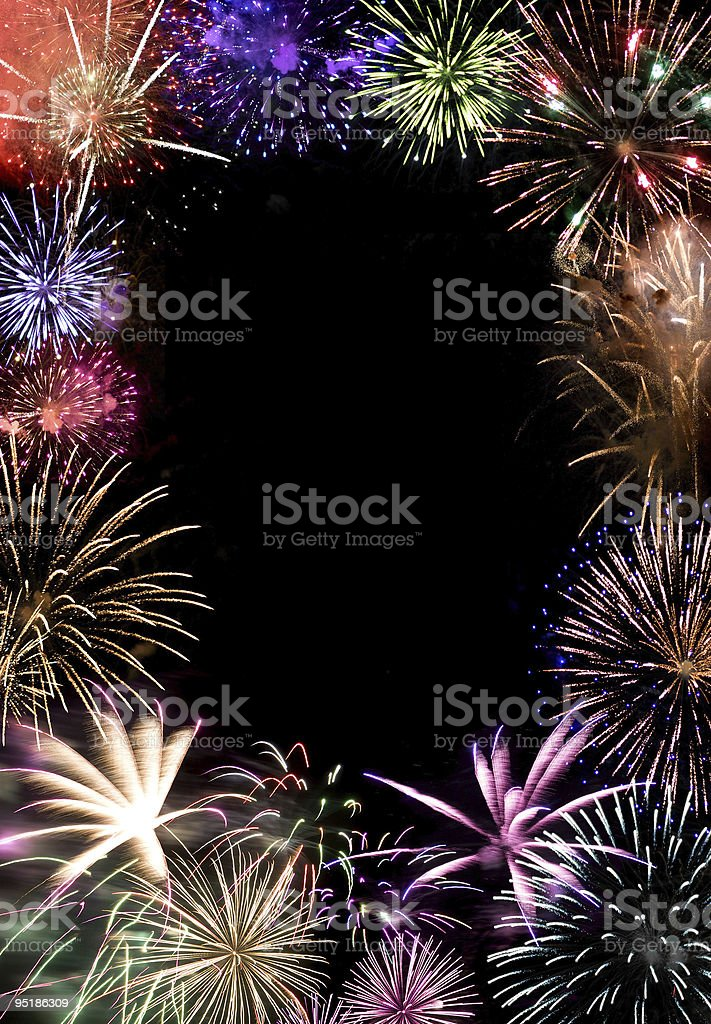 Fireworks Grand Finale stock photo