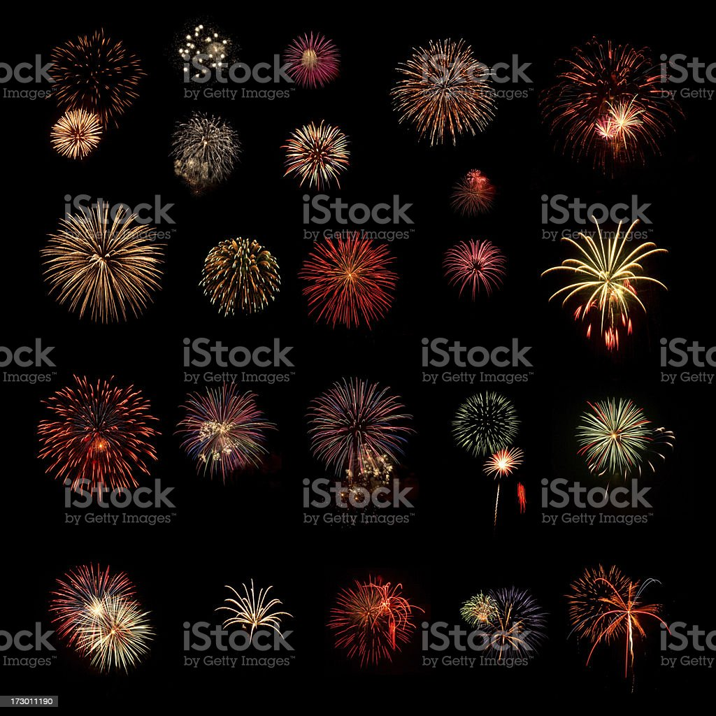 Fireworks Group royalty-free stock photo