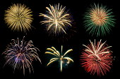 Fireworks Display Celebration - phantom, blue, lush, lava, fashion, trendy, 2020