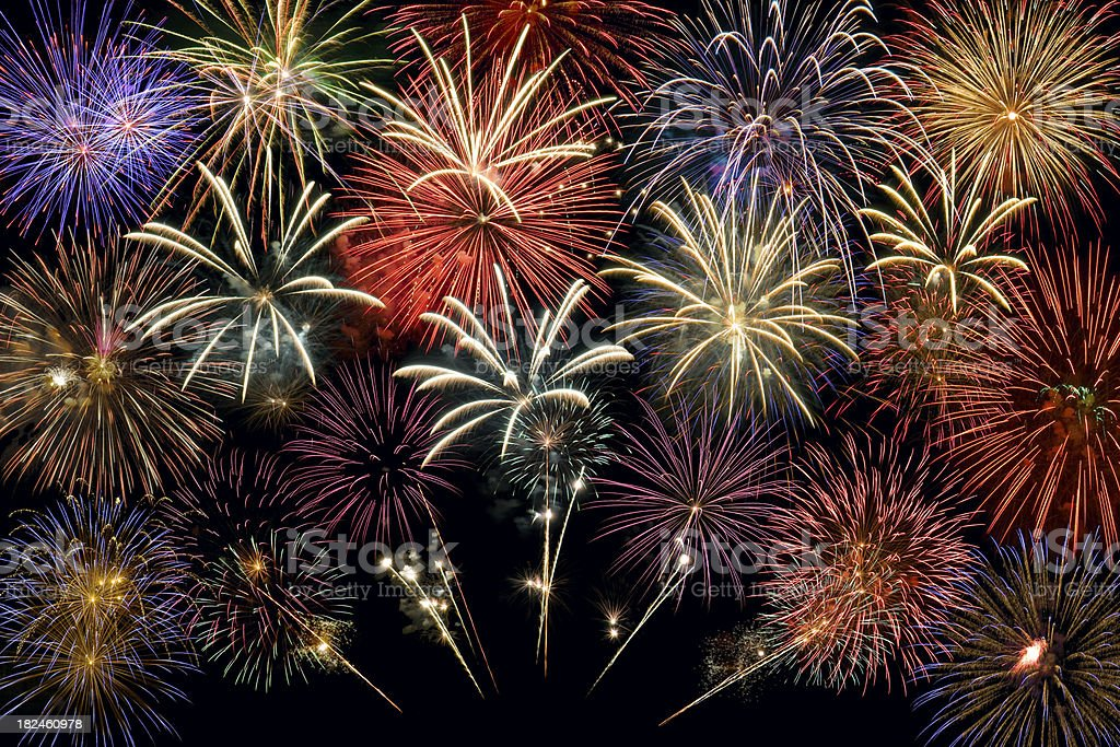 Fireworks Group stock photo
