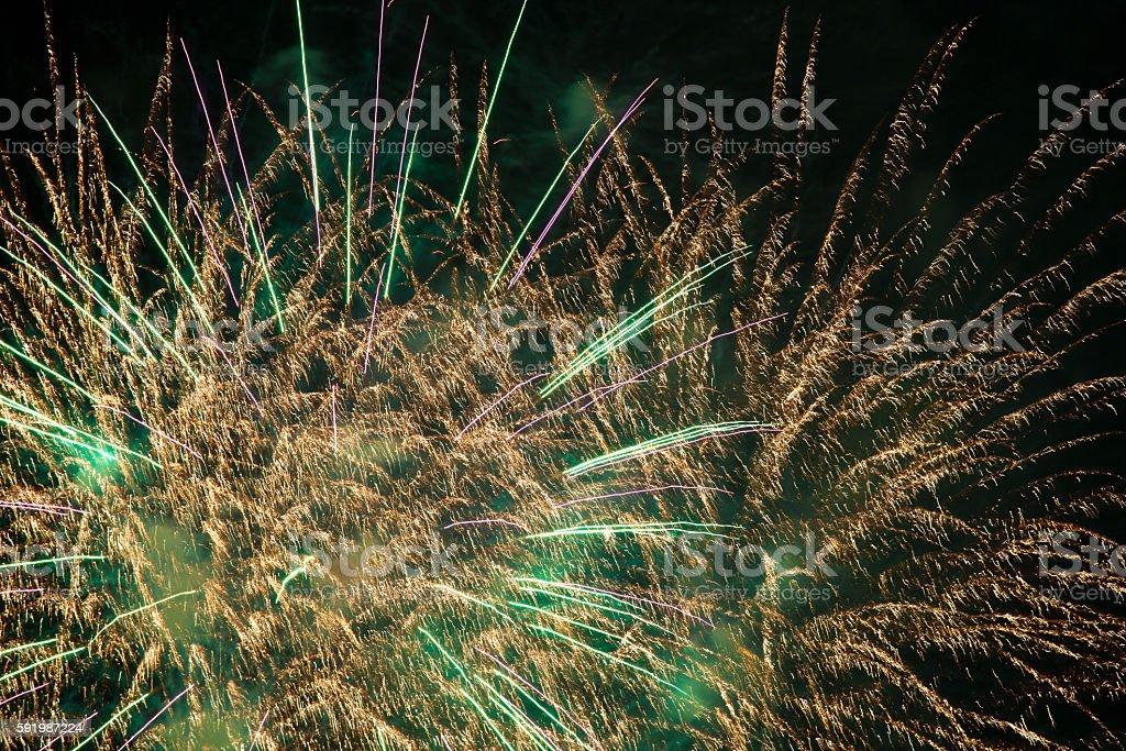 Fireworks HANABI stock photo